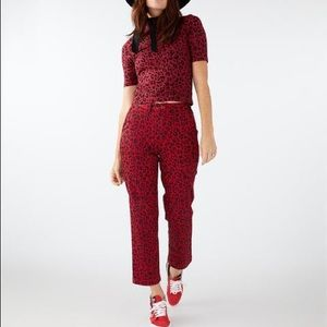COPY - Vans red pepper leopard chinos